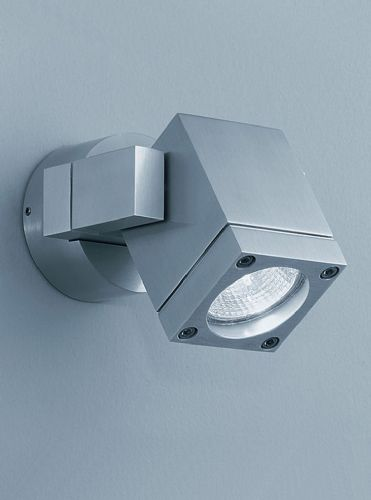 Franklite WB573 Brushed Aluminium Wall Light